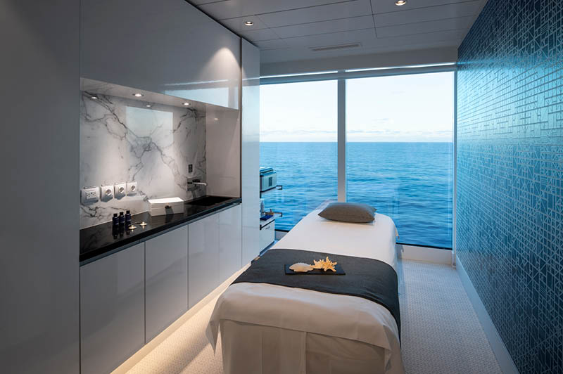 Celebrity Edge, Spa therapy room (image courtesy of Celebrity Cruises)