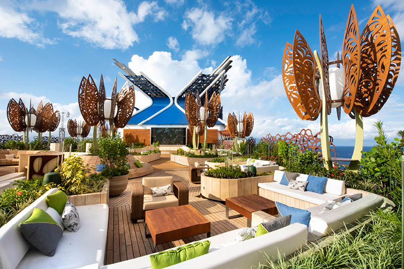 Celebrity Edge, The Rooftop Garden (image courtesy of Celebrity Cruises)