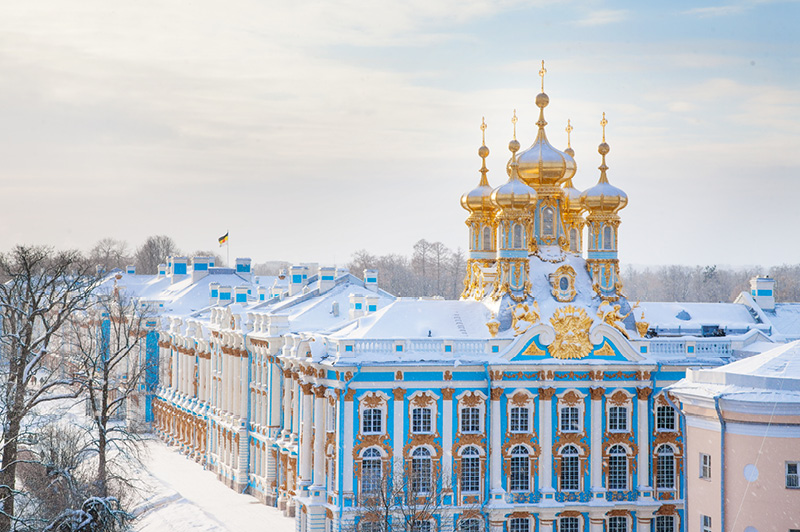 "Did you know there are over 100 Kg of Gold in the Palace and it was the ""summer palace"" to the Russian tsars."