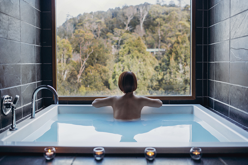 Waldheim Alpine Spa at Peppers Cradle Mountain Lodge | Credit: Laura Helle